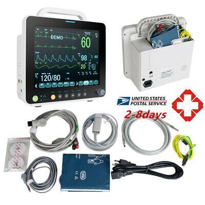 12 Medical Portable Icu Ccu 6-para Patient Monitor Vital Sign Cardiac System Ce