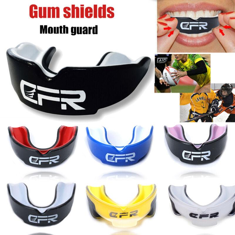 CFR Mouth Guard Shield Case MouthPiece Boxing Basketball Gel