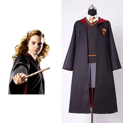 Harry Potter Hermione Granger Cosplay Costume Kid Child Gryffindor Uniform Dress - Costume Hermione Granger