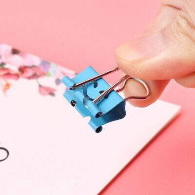 Nuolux 40x Home Office Smiling Face Binder Clips File Organizer Paper Holder New