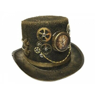 Costume With Top Hat (Steampunk Top Hat Costume Cosplay Party With Clock and Gears Handmade Mardi)