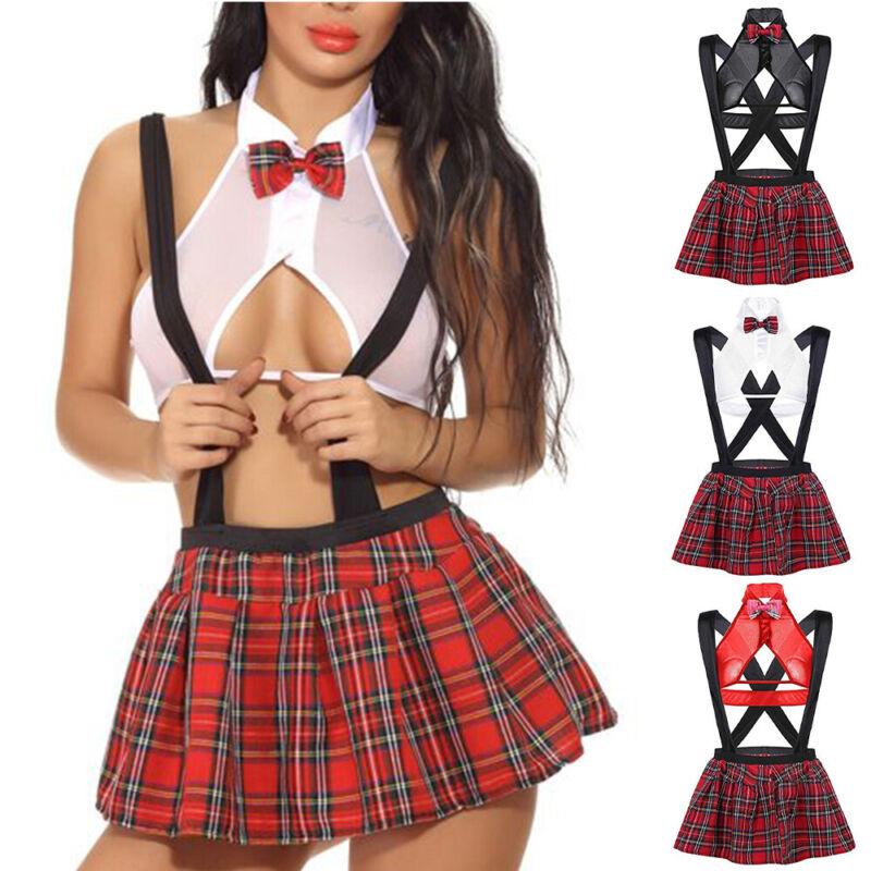 Women Sexy Naughty Nurse School Uniform Cosplay Outfits Fancy Dress Nightwear Clothing, Shoes & Accessories
