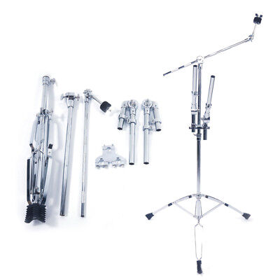 Double Tom Drum Stand Cymbal Boom Mount Arm Duel Percussion Hardware