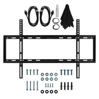 Deco Mount Slim Flat Wall Mount HDMI Bundle Kit for TV 32