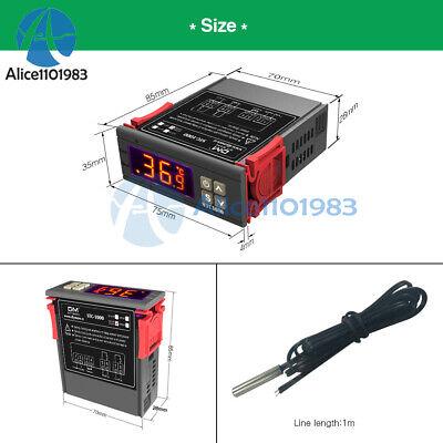 Stc-1000 Digital Temperature Controller Ac110-220v Thermostat W Aquarium Sensor