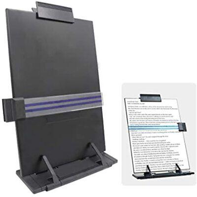 Desktop Document Holder With Adjustable Clip 7 Positions Metal Book Copy Stand