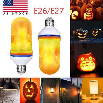 E26/E27 LED Flame Effect Light Bulb Flickering Flame Lamp Simulated Decorative](Flicker Bulb)