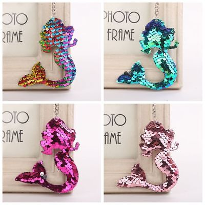 Jewelry Handbag Pendant Sequins Keychain Bag Accessories Mermaid Keyring