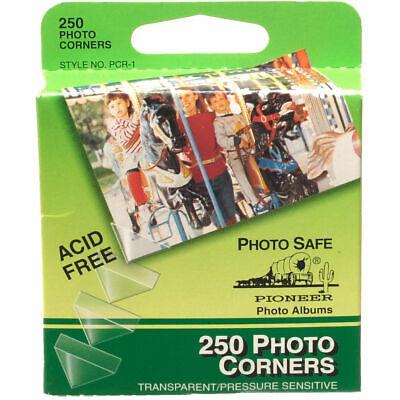 NEW Pioneer Photo Corners Self Adhesive, 250 Package Clear Photo Corners