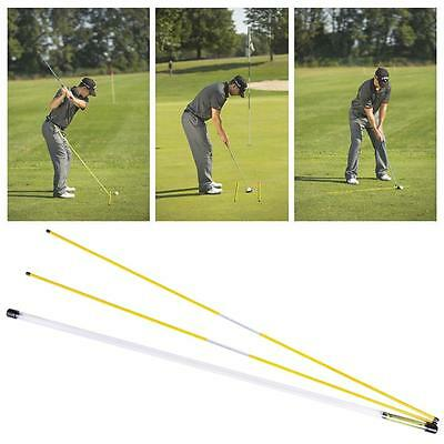(Golf  Alignment Sticks Swing Plane Tour Training Aid Practice Rods Trainer Aids)