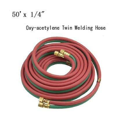 50 X 14 Protable Twin Torch Hose Oxygen Acetylene Welding Grade R Red Green