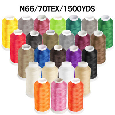 1500YD Nylon Sewing Bonded Thread #69 N66 T70 for Upholstery Leather Beading 69 Bonded Nylon Thread