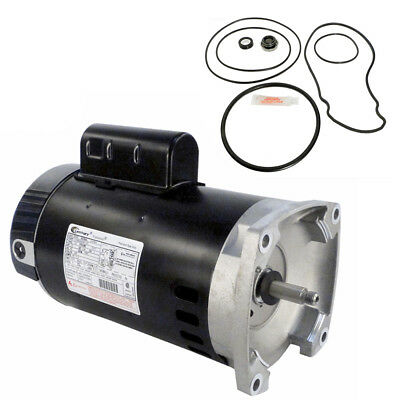 Pentair Whisperflo 2.5HP WF-30 Replacement Motor Kit AO Smith B2840 w/ -