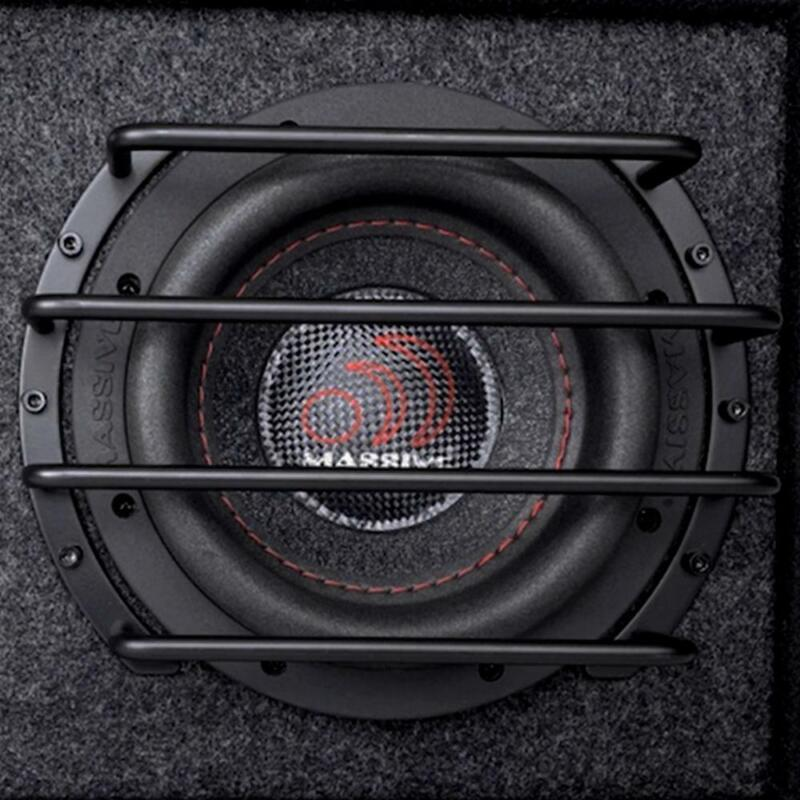 """Massive Audio GRILL12 12"""" Deep Set Anodized Steel Protective Subwoofer Grill"""