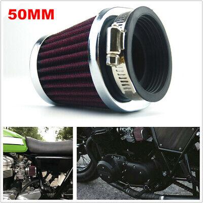 Motorcycle Bikes Carburetor 50MM Air Filter ATV Intake for Honda Suzuki Yamaha
