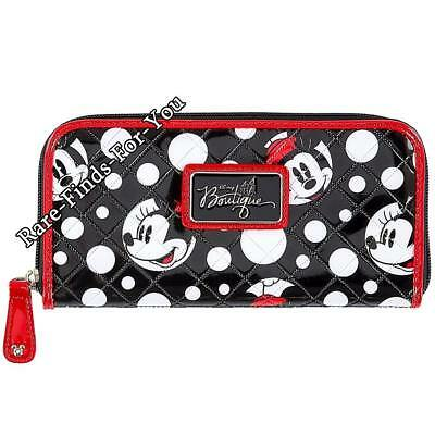 Disney Parks Boutique Minnie Mouse Faces and Polka-Dots Zip-Around Wallet (NEW)