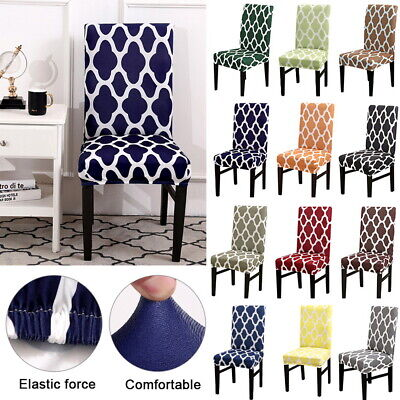 Universal Stretch Removable Kitchen Dining Room Chair Protector Cover Slipcover