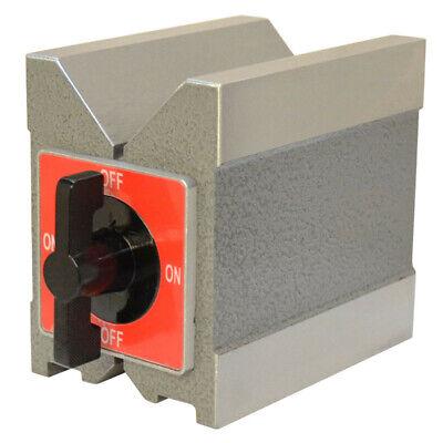 "0.0002"" Accuracy Magnetic V-Block 90 Degree V 260 Lbs"