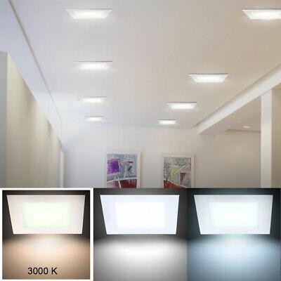 LED Empotrable Luz Techo Panel Pared Raster Iluminación Blanco Cálido Aluminio
