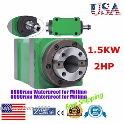 Spindle Unit 2hp 6000rpm8000rpm Power Head For Cnc Engraving Milling Machine