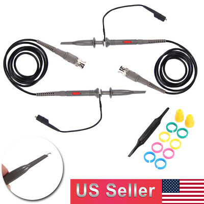New 2x Oscilloscope Probe Scope Clip Test Cable Lead Kit 1x10x Switchable Usa
