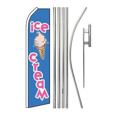 Ice Cream Super Flag Kit Advertising Super Swooper Feather Banner Sign