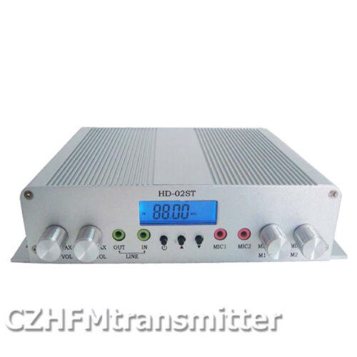 CZH HD-02ST 15W LCD digital stereo high-power FM transmitter +GP100 Antenna Kit