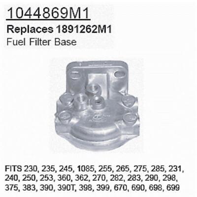 1044869m1 For Massey Ferguson Fuel Filter Base 230 235 245 1085 255 265