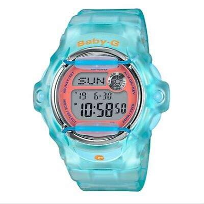 Casio BABY-G SHOCK BG169R-2C World Time Clear Blue Digital 100m Ladies Watch