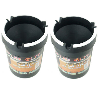 2 Pack Glow in the Dark Cup Style Car Auto Self Extinguishing Ashtray Cup Holder - Glow In The Dark Cup