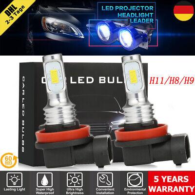 2× 180W 22000LM H11/H9/H8 LED Auto Nebelscheinwerfer DRL CSP Birne 6000K Weiß DE