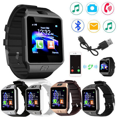 Best DZ09 Bluetooth Smart Watch Phone Camera SIM Card Slot For Android IOS