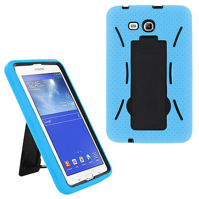 Купить light blue hybrid hard case skin cover for samsung galaxy tab 3 e lite 7.0 t110
