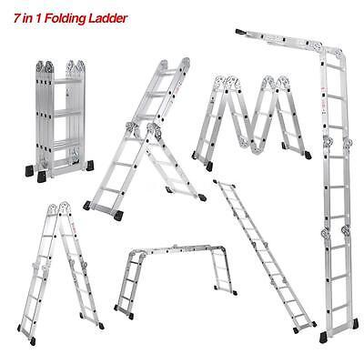 Aluminum Step Ladder Work Platform Extension Scaffold Non-slip Durable