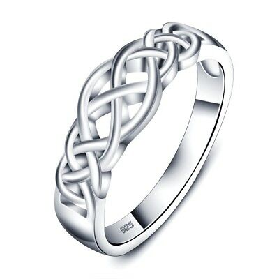 925 Sterling Silver Braided Design Celtic Knot Ring Size (Celtic Knot Design Ring)