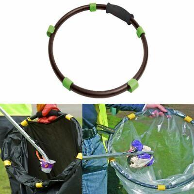 Black Handy Hoop Ring Sack Bin Refuse Garbage Bag Holder Plastic With Handle New