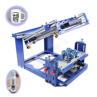 Curved Screen Printing Machine Manual Cylindrical Conical Press Printer Kit 80mm
