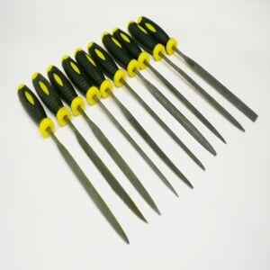 10-PC-FINE-NEEDLE-FILE-SET-ENGINEERS-PRESICION-BENCH-WORK-METAL-PLASTIC-WOOD-NEW
