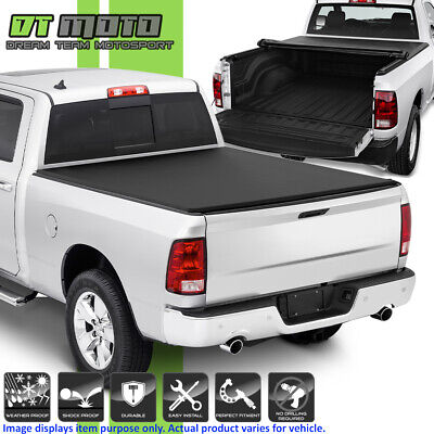 Roll Up Tonneau Cover For 2009-2018 Dodge Ram 1500 10-18 2500 3500 6.5FT Bed