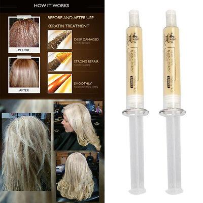 2Pcs Dry Moisturizing Damaged Essence Lotion Hair Repair Treatment Hair Mask