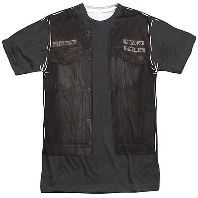 Sons Of Anarchy Juice S Leather Vest Jacket Costume Outfit Uniform Front T Shirt