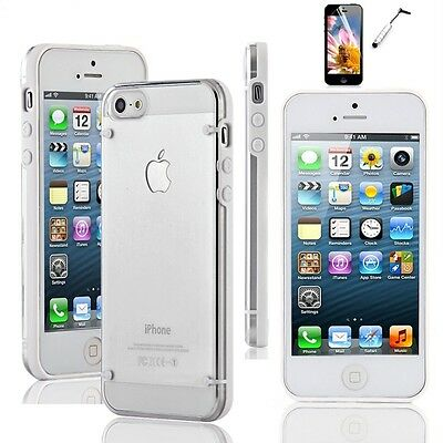 For iPhone 5 / 5S Ultra Thin Transparent Crystal Clear Hard TPU Case Cover on Rummage