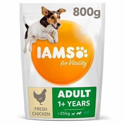 Iams Dog Food Small And Medium Adult With Chicken 800G