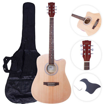 "Glarry GT502 41"" Practice Beginner Spruce Folk Acoustic Guitar Wood Color"