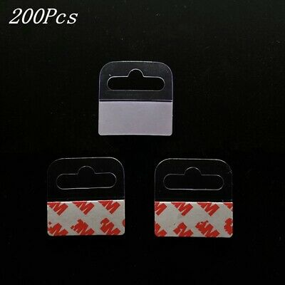 200pcs Sticky Self Adhesive Sticker Tags Hook Retail Slot Display Hanging Tabs