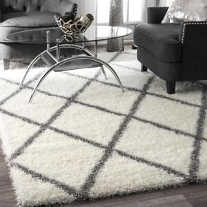 nuLOOM Diamond Shag Grey 7 ft. x 9 ft. Area Rug NEW ** 5 CORNERS FURNITURE**