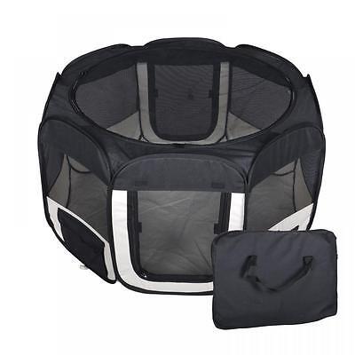 New Medium Black Pet Dog Cat Tent Playpen Exercise Play Pen Soft Crate T08