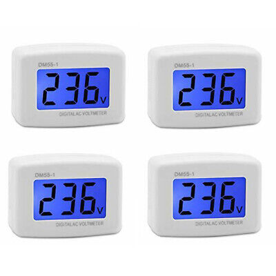 4x Dm55-1 Ac 80-300v Lcd Digital Voltage Test Monitor Us Plug In Voltmeter T0s4