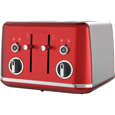 Breville VTT852 Lustra 4 Slice Toaster Candy Red 220 Volts Export Only
