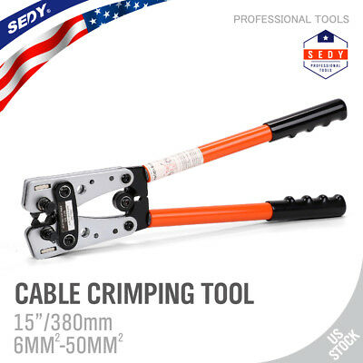 Large Wire Terminal Crimping Tool 6-50mm Cable Lug Crimper Cual Terminal Plier